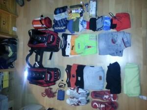 Organizando el equipaje