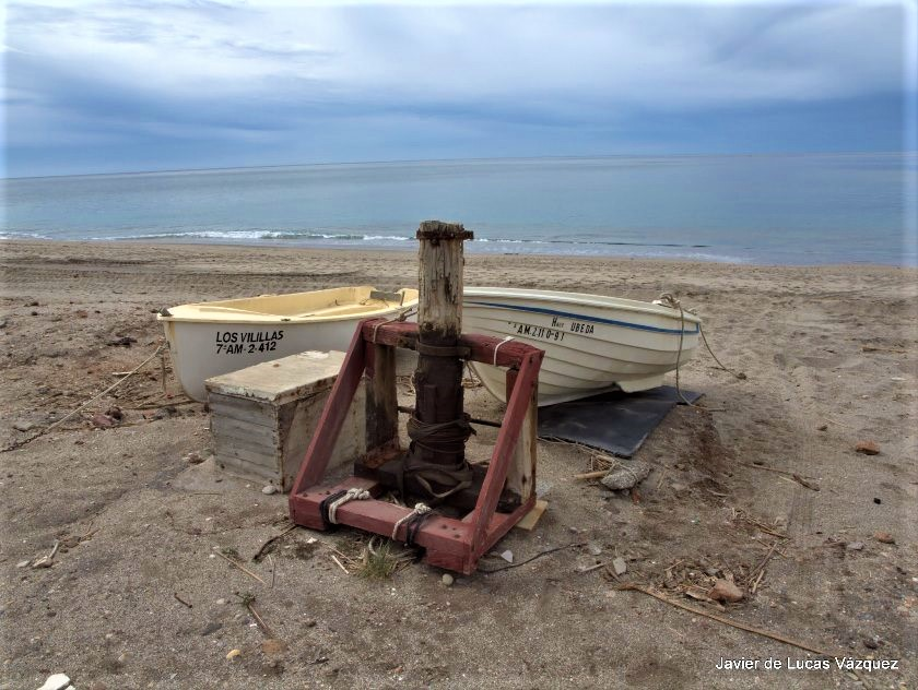 Barcas en la Playa de Almadraba del Cabo de Gata