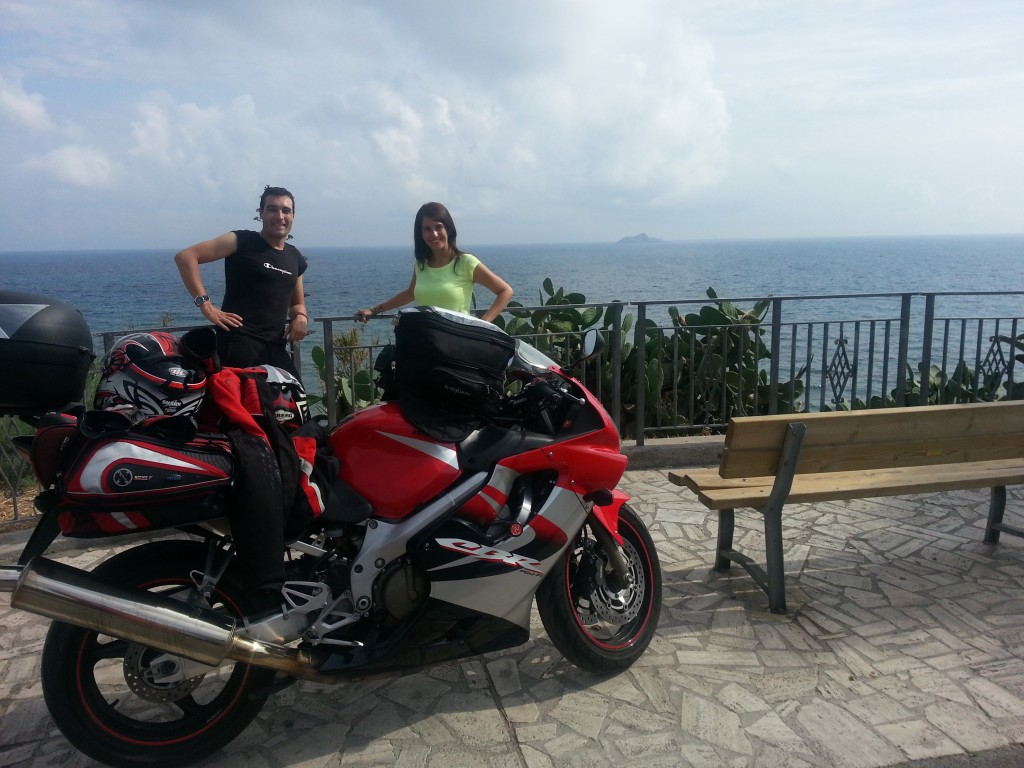 Junto al Faro de Piombino, Italia