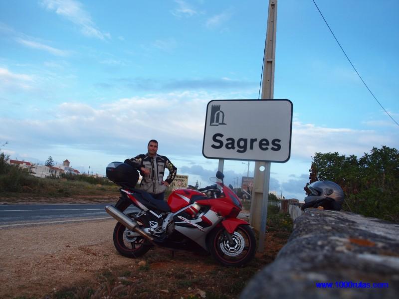 Llegando al Cabo de San Vicente, en Portugal.