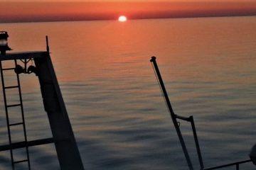 Mar Mediterráneo al anochecer
