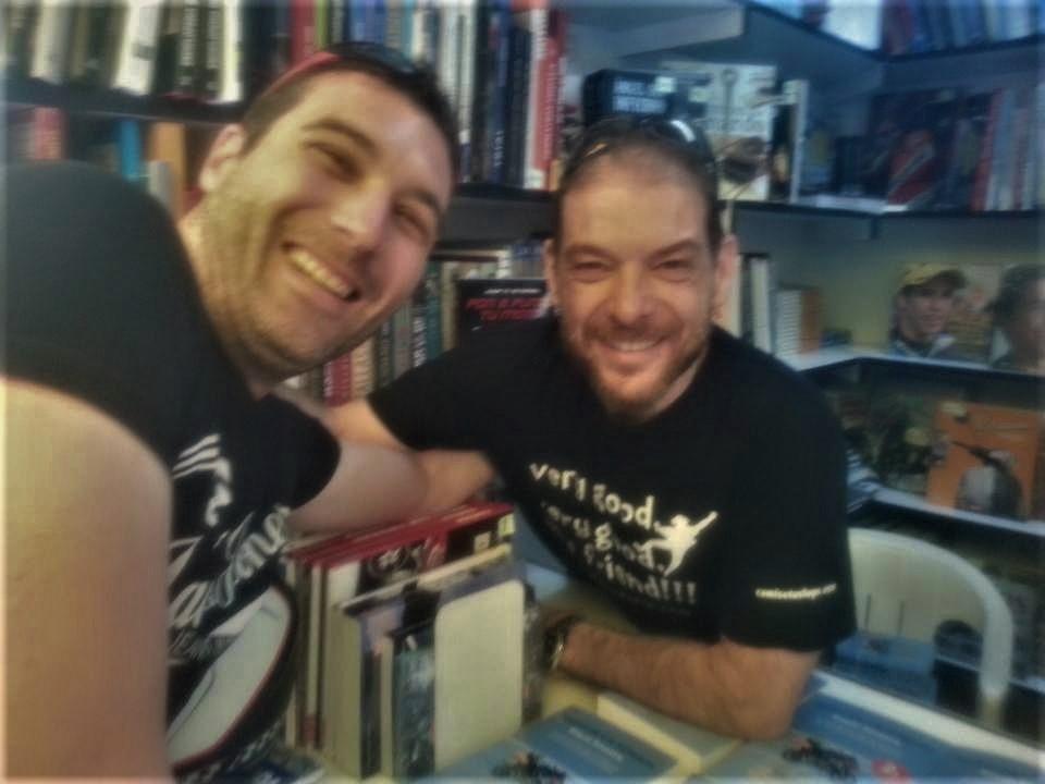 Con Miquel Silvestre en la Feria del Libro