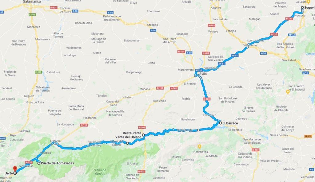 Ruta al Valle del Jerte desde Segovia