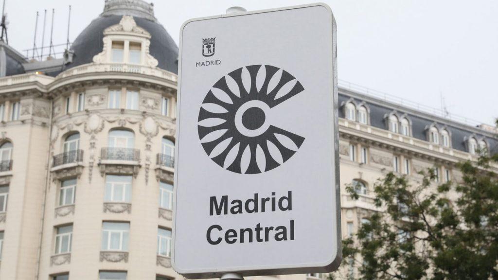 El nuevo area restringido Madrid Central