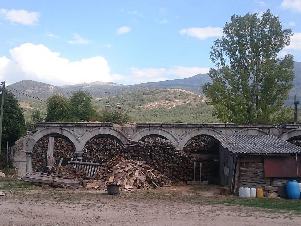 Sección porticada del que fuera el patio del Palacio de Valsaín