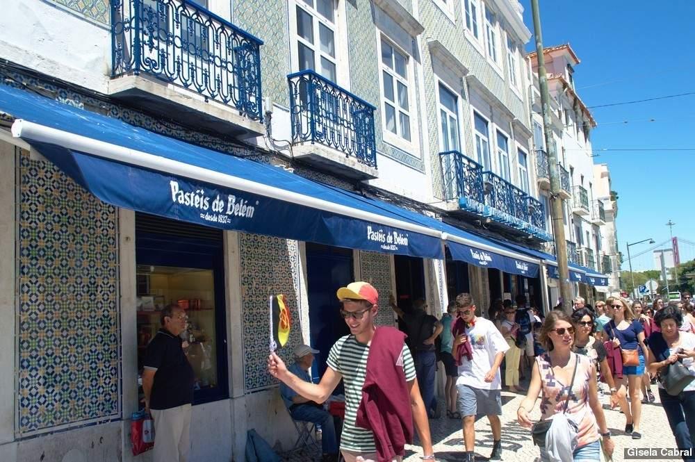 Pasteis de Belem, a las afueras de Lisboa, en una de las zonas con mas encanto de la ciudad.