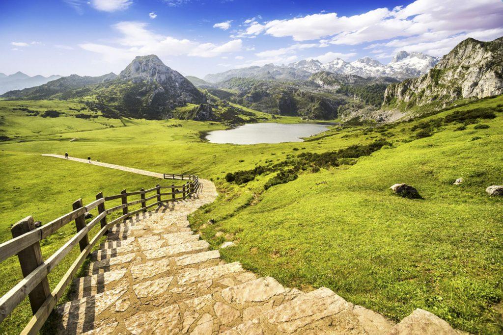 Paisajes de Picos de Europa, cerca de Cangas de Onís