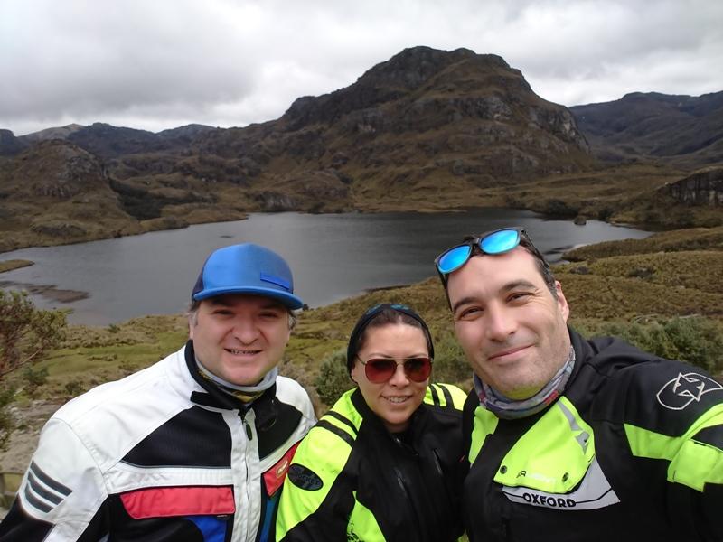 Con Pablo y Mónica en la Laguna de La Toreadora
