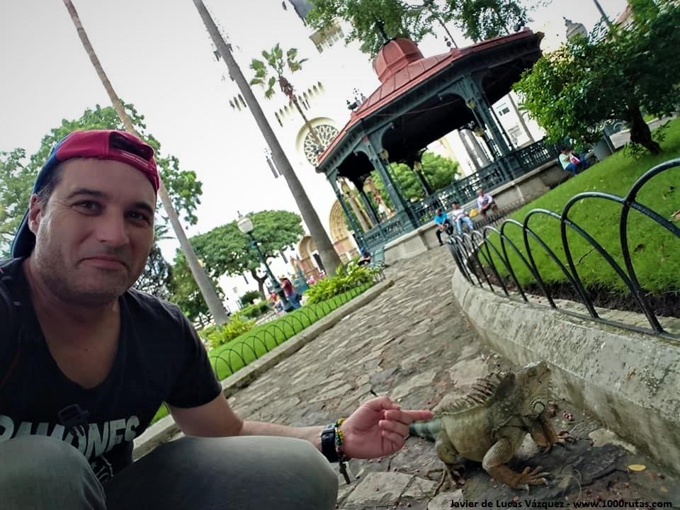Parque de Las Iguanas, frente a la Catedral de Guayaquil