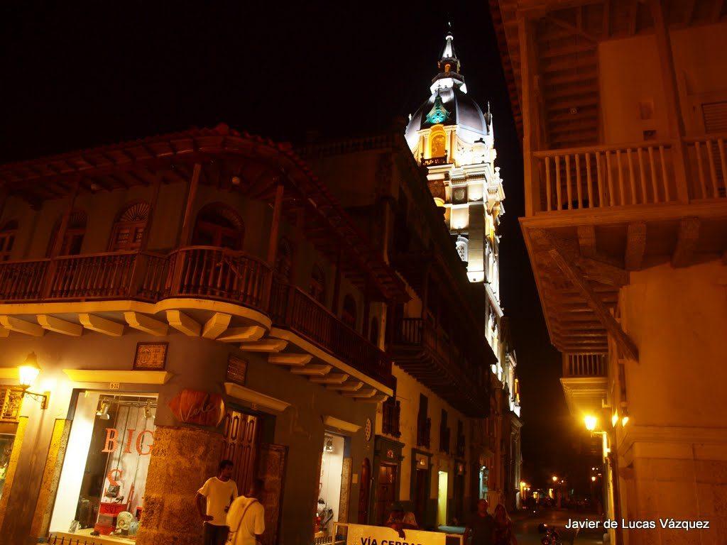 Ciudad Amurallada de Cartagena de Indias durante la noche
