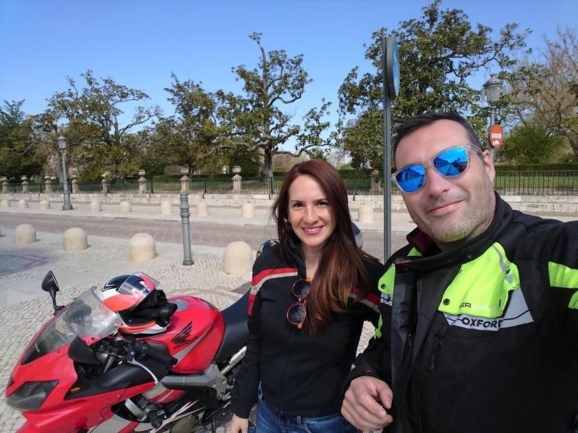 Junto al Palacio de Aranjuez