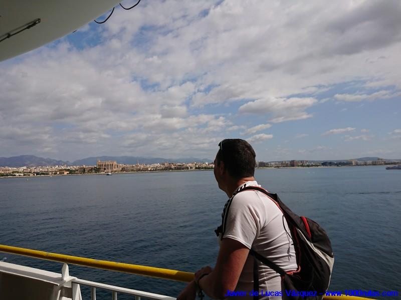 Llegando a Palma de Mallorca