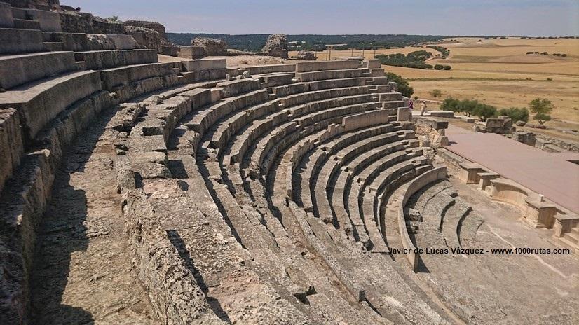 Graderío del Teatro Romano de Segóbriga
