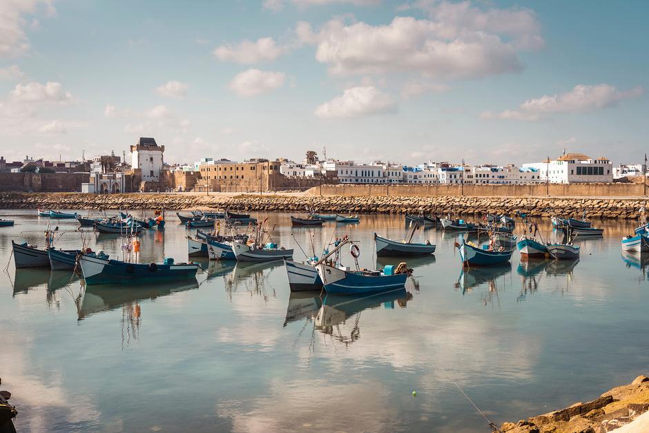 Arcila, vista de la costa y sus fortificaciones portuguesas