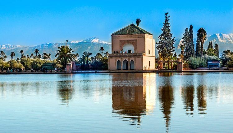 Jardines de la Menara en Marrakech.