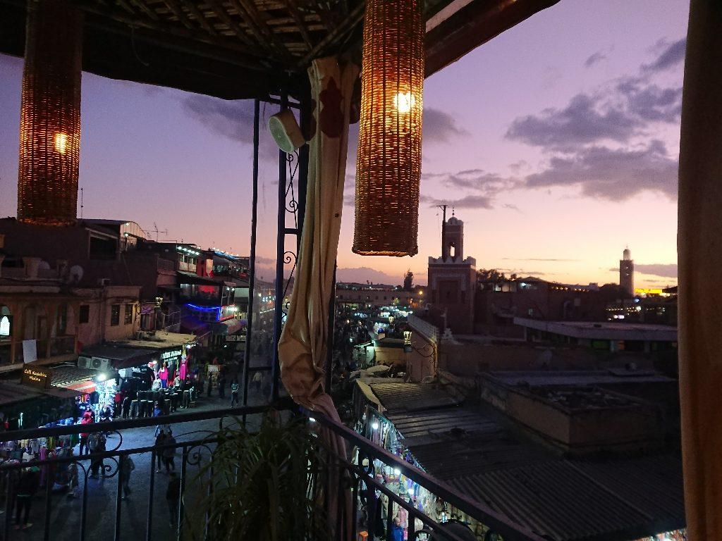 Anochece sobre la Medina de Marrakech