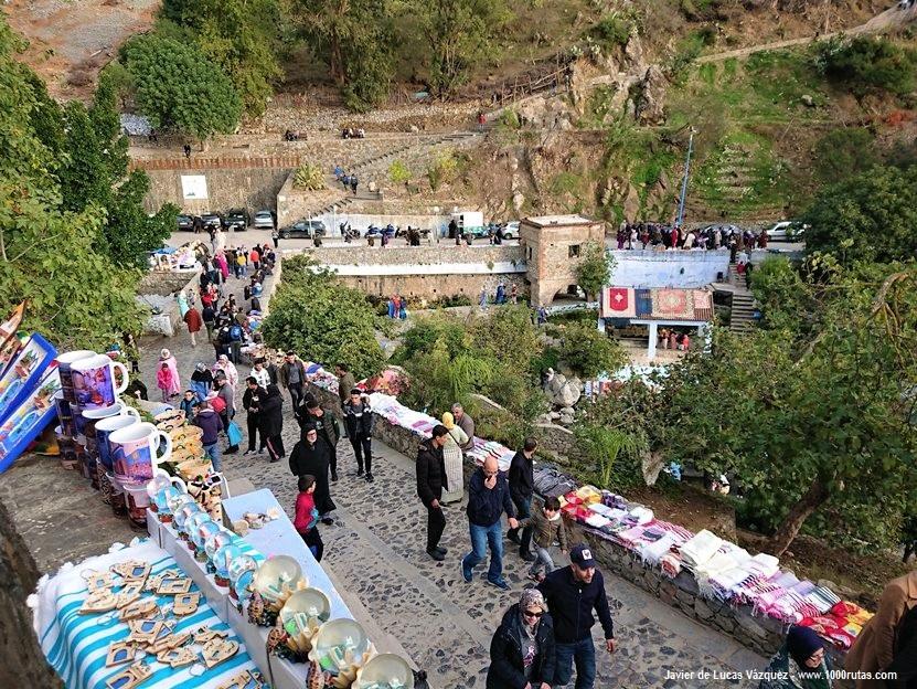 La cascada y el río, al este de la Medina de Chaouen