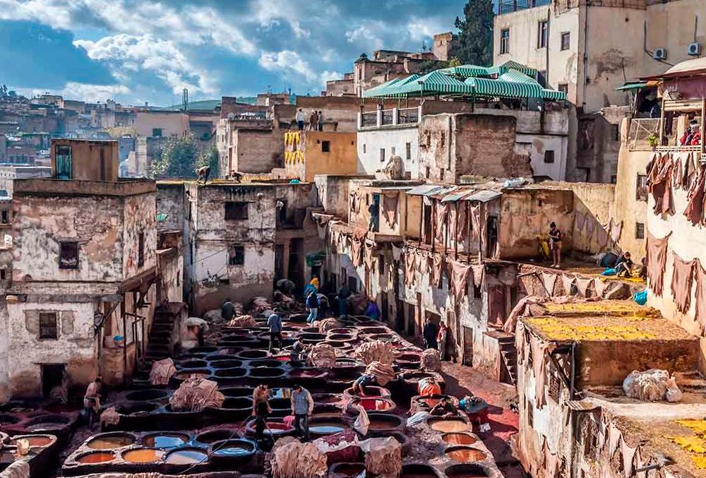 Curtidos de piel en Fez