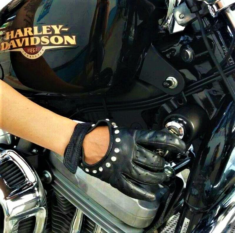 Virginia y su Harley Davidson, pasión por las dos ruedas.