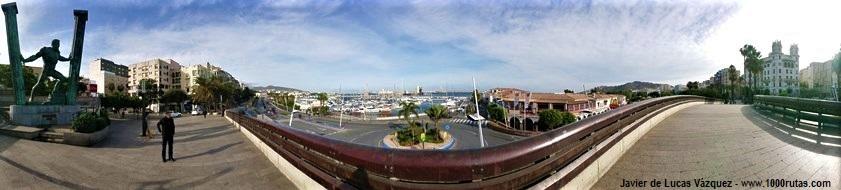 Columnas de Hércules frente al puerto de Ceuta