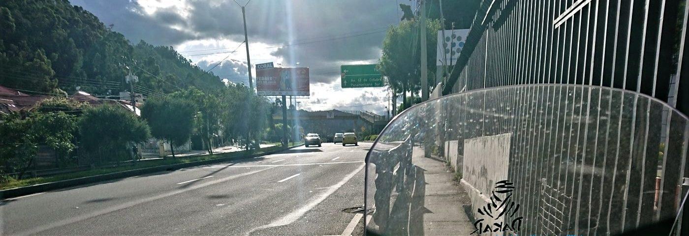 Carretera Panamerícana a su paso Por Cuenca (Ecuador)